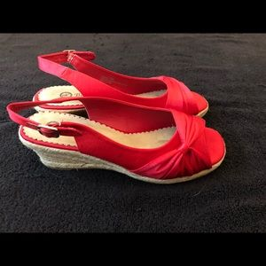 Bella Vista Sangria Red silk Shoes